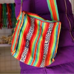 西藏纯手工单肩休闲帆布包