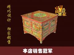 小方桌 炕桌 藏式彩绘 新中式彩绘 仿古家具 古典家具