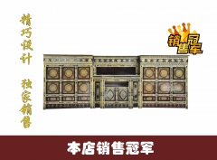 西藏红藏式传统手工沥金彩绘手工 藏柜黑色三件套