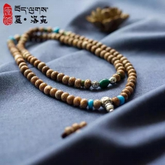 西藏「夏洛克」原创【君子之交】108阴皮星月佛珠