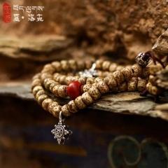 西藏「夏洛克」原创【无为】阴皮星月108颗佛珠