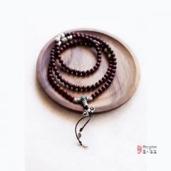 西藏夏洛克原创「止水」6mm小叶紫檀108颗佛珠F47