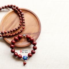 西藏夏洛克原创「默语」情侣款小叶紫檀佛珠手串F45