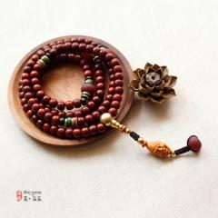 西藏夏洛克原创「静心」8X10小叶紫檀108颗佛珠F41
