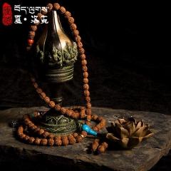 西藏「夏洛克」原创【孔雀】108颗金刚菩提佛珠