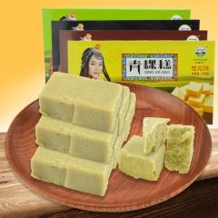 [牦牛牧家]西藏特产旅游美食零食小吃牦牛牧家青稞糕四味盒装180g 180g 绿豆味