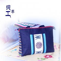 西藏工布江达氆氇纯手工制作藏包