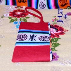 西藏工布江达氆氇纯手工制作藏钱包