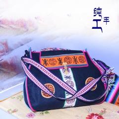 西藏工布江达氆氇纯手工制作藏单肩包