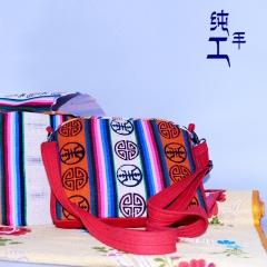 西藏工布江达氆氇纯手工制作藏提包