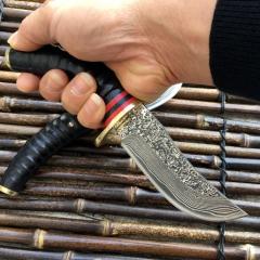 藏刀具花纹钢刀高硬度直刀野外求生军刀直刀防身小刀