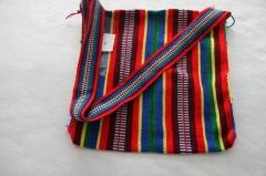 藏式民族手提包 红米拼色 M