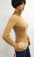 西藏特产措勤特色金紫绒羊绒女士翻领套衫