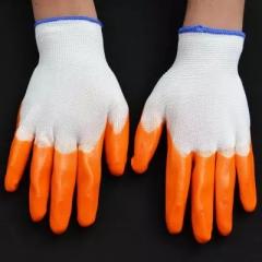 胶皮手套 工作手套 pvc涂胶浸胶手套 全挂胶皮工业