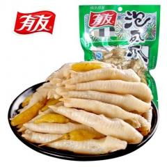 有友 泡椒凤爪 山椒味80g/袋 重庆特产鸡爪零食