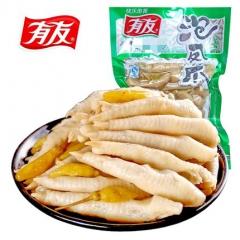 正宗重庆特产有友泡椒凤爪零食小吃 泡野山椒辣鸡爪休闲美食