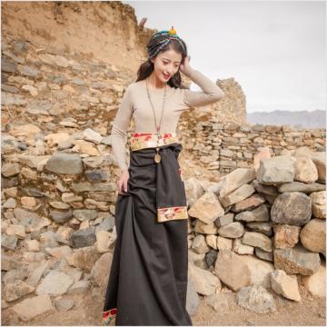 西藏措勤县地方特色金紫绒 女款 V领羊绒衫 本色 S