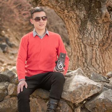 西藏措勤县地方特色 金紫绒 男款上衣 V领潮流羊绒衫 红色 S