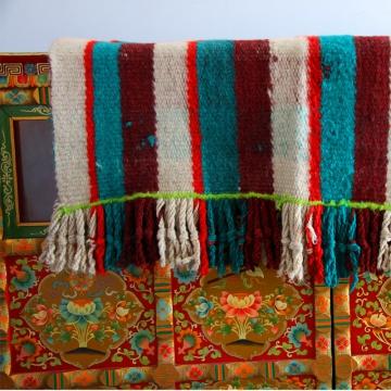 地方特色【措勤频道】藏风/藏式条纹#格子毛毯205*105cm
