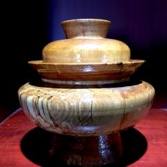木碗  中号(带花)西藏特产餐具饮茶上品纯木手工制作