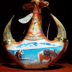 纳木错青稞酒西藏特产地方名酒好喝不上头牛角壶