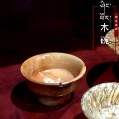 甜茶碗西藏特色手工艺产品纯实木打造