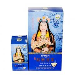 西藏特产 藏式酥油茶甜茶奶茶 牦牛牧家大盒甜味咸味酥油茶 400g 酥油茶